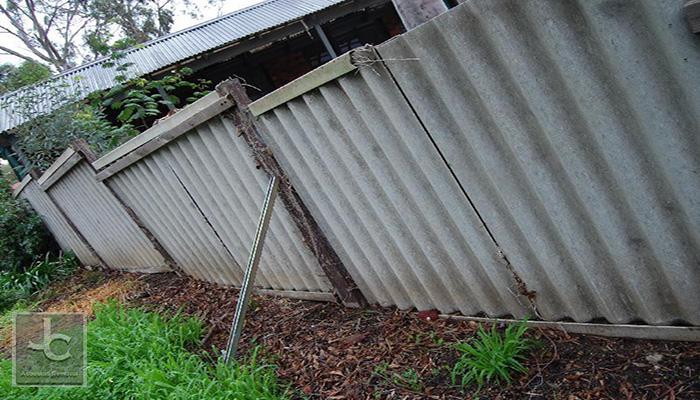 asbestos fence